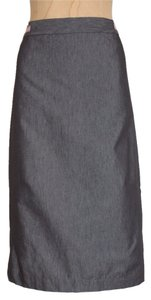 A|X Armani Exchange Curve Slit Pencil Skirt GRAY