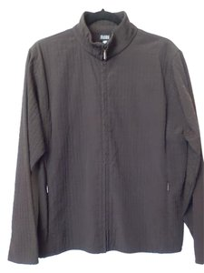 Eileen Fisher Oversized Textured Light Medium Dark Brown Jacket
