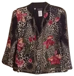 Other Black and White with Fuschia/ Leopard Jacket