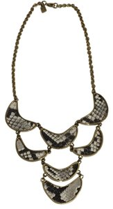 Kara Ross Snakeskin Statement Necklace