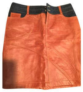 Cache leather skirt Skirt