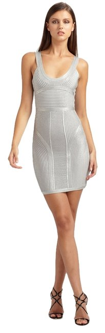 Item - Silver Or Ice As Stated Women's Knit Bodycon (20143) Above Knee Cocktail Dress Size 6 (S)