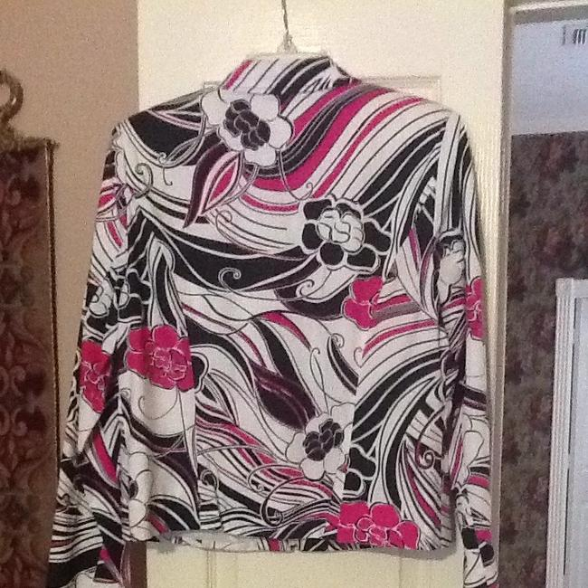 Maggy London White, Black, Hot Pink Jacket