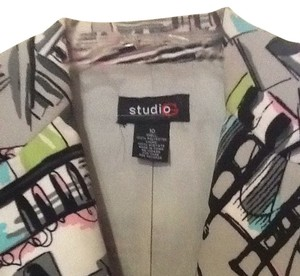 Studio G Light Gray, Black, White, Pink, Light Blue Jacket