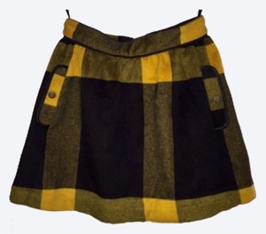 Free People Mini Skirt Yellow and Black