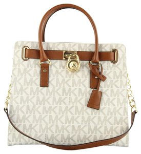 Michael Kors Next Day Shipping Tote in Vanilla Monogram