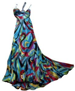 Mary L Couture Pucci Style Resort Cruise Prom Saks Beaded Bandea Ball Military Ball Dress