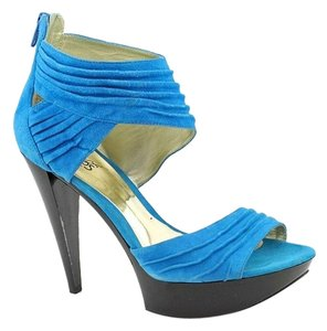 Carlos by Carlos Santana Pump 8.5 Parrot Blue Platforms