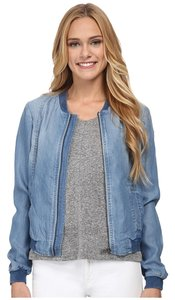 Sam Edelman Bomber Tencel Chambray BLUE Jacket