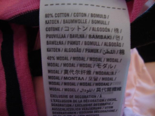 Abercrombie & Fitch T Shirt Pink & Navy Blue