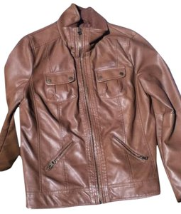 George brown Leather Jacket