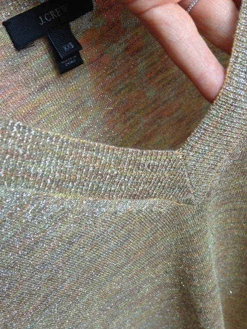 J.Crew Metallic Sparkle V-neck Sweater