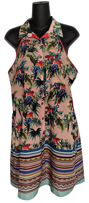 Dream Daily short dress Summer Fun Parrot Bird Colorful Retro Sleeveless on Tradesy