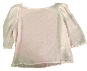 American Apparel Chiffon Top White