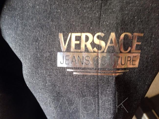 Versace short dress Charcoal with Silver Sparkle on Tradesy