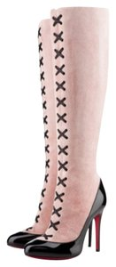 Christian Louboutin Gwendoline 120mm Black/rose Boots