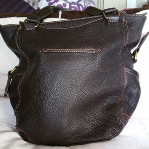 The Sak Leather Tote in Brown