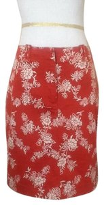 Ann Taylor LOFT Mini Skirt Salmon