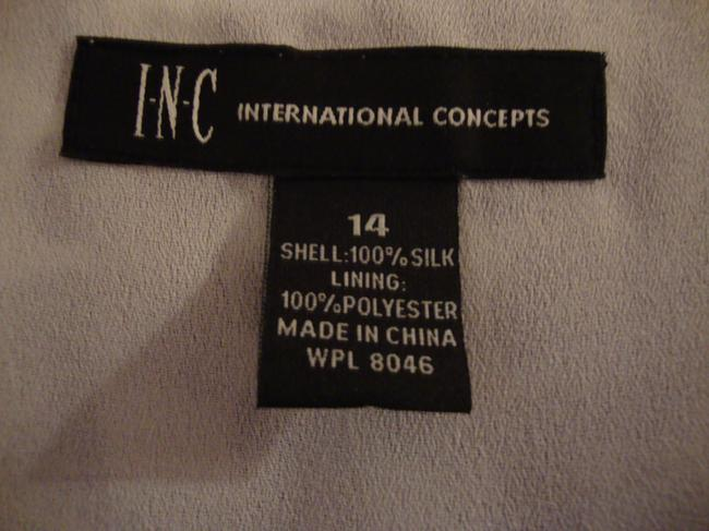INC International Concepts Top Purple & White