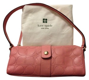 Kate Spade Leather Pink Perforated Gold Gold Hardware Shoulder Bag