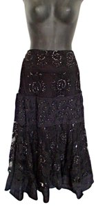 Basil & Maude Lace Sequin Beads Glamor Skirt