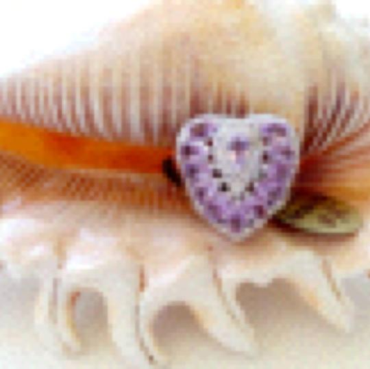 Other Beautiful Valentine Natural Pink Amethyst and Topaz Heart Shaped RIng 5.5