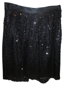 Walter Baker Sequin Mini Sexy Mini Skirt Black