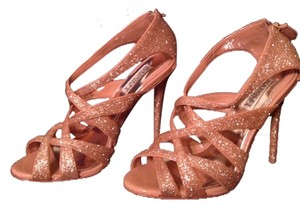 Badgley Mischka Rose Gold Glitter Formal