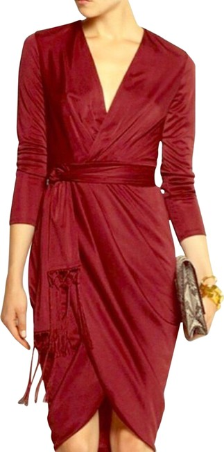 Item - Red Ruby Hill Mid-length Formal Dress Size 4 (S)