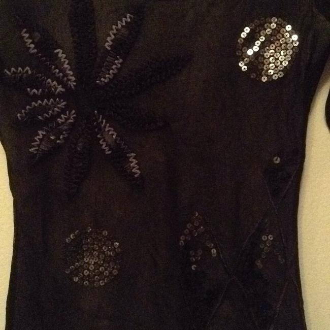 Fuzzi Top Black with silver accents Image 1