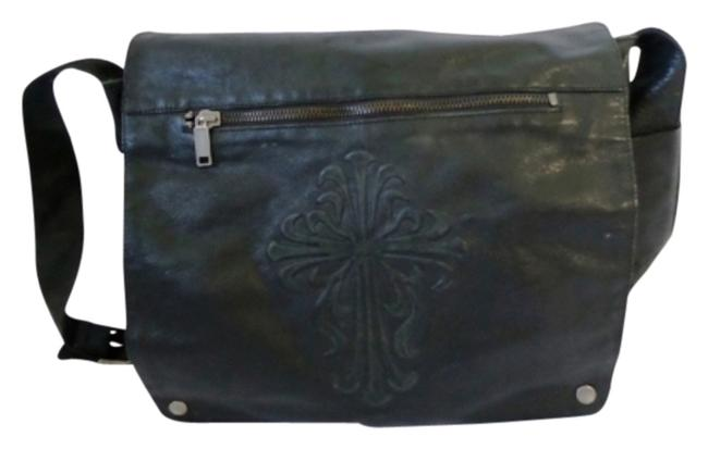 Item - Briefcase Laptop Carrying Case Business Full Flap Over Black Leather Weekend/Travel Bag