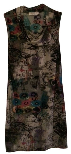 Funky People short dress Grey and Multi Colors on Tradesy