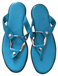 Hogan Leather Sandal blue w/ silver hardware Sandals