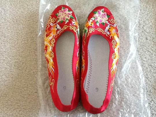 Red Chinese Style Formal Size US 6