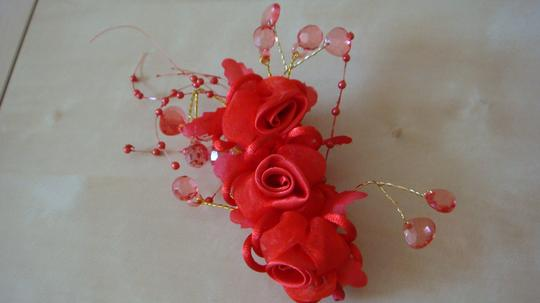 Red Chinese Style Decor. Hair Accessories