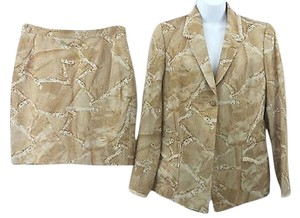 ELSA MAHR ELSA MAHR PRINT COTTON BLEND SKIRT SUIT 44 ***MADE IN FRANCE