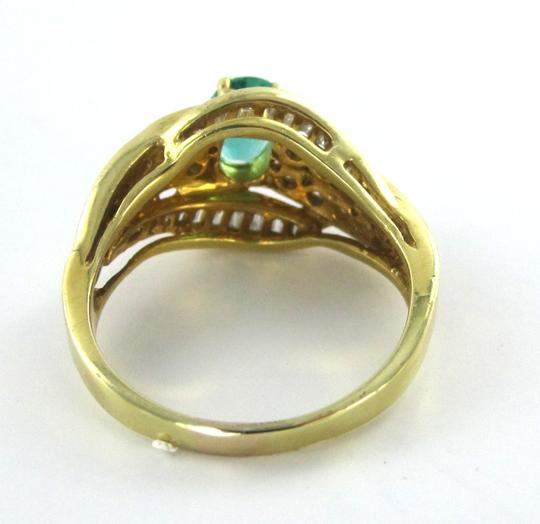 Other 18 karat yellow gold 18k ring emerald diamond wedding band vintage