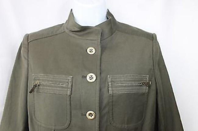 Ellen Tracy ELLEN TRACY MILITARY INSPIRED STRETCH COTTON BLEND PANT SUIT 2 4 Image 1