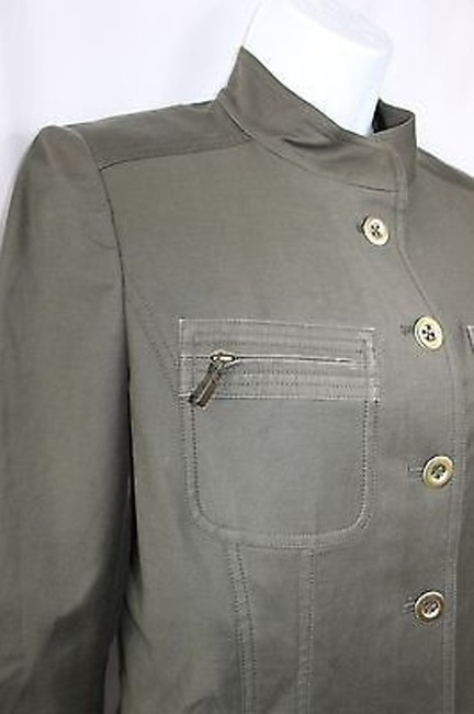 Ellen Tracy ELLEN TRACY MILITARY INSPIRED STRETCH COTTON BLEND PANT SUIT 2 4 Image 2