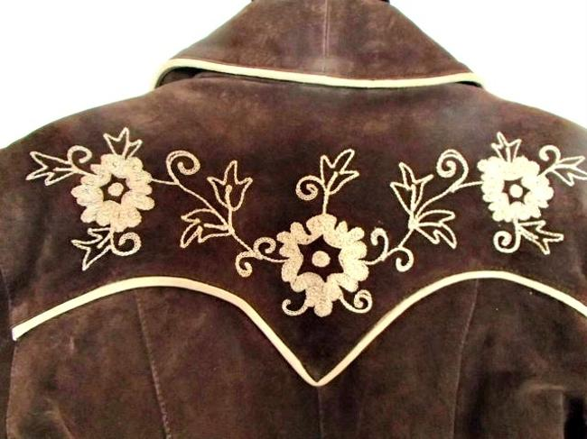 Cripple Creek Western Suede Classic brown Leather Jacket