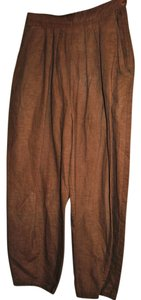 Limited Too 52%linen 40% Dryclean Only Baggy Pants Brown