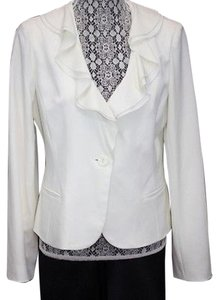 Angel Nina Ruffles Stretch Cremen Blazer