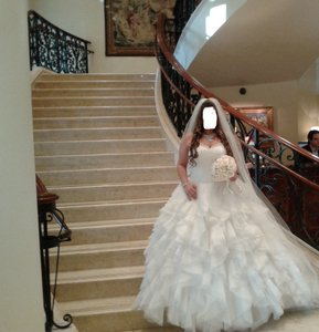 Custom Wedding Dress Organza Lace Back Wedding Dress
