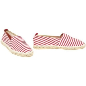 Laundry by Shelli Segal Nautical Espadrilles Red and White Flats