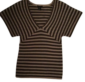 Theory Top Gray and off white striped