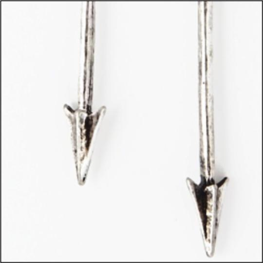Other Silver Arrow Drop Earrings Image 2