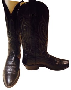 Men's Nocona premium full grain bull shoulder leather; Black Boots