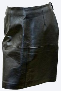 Amanda Smith Leather Skirt BLACK