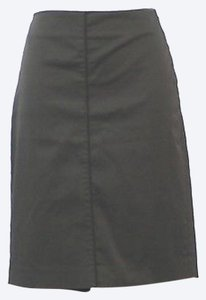 Mango Cotton Pencil Skirt BLACK