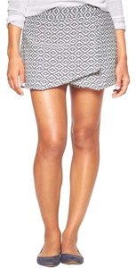 Gap Box Pattern Mini Skirt Navy and White
